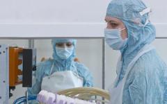 Концентрация и очистка вируса гриппа A/H1N1 © РИА Новости, Андрей Старостин